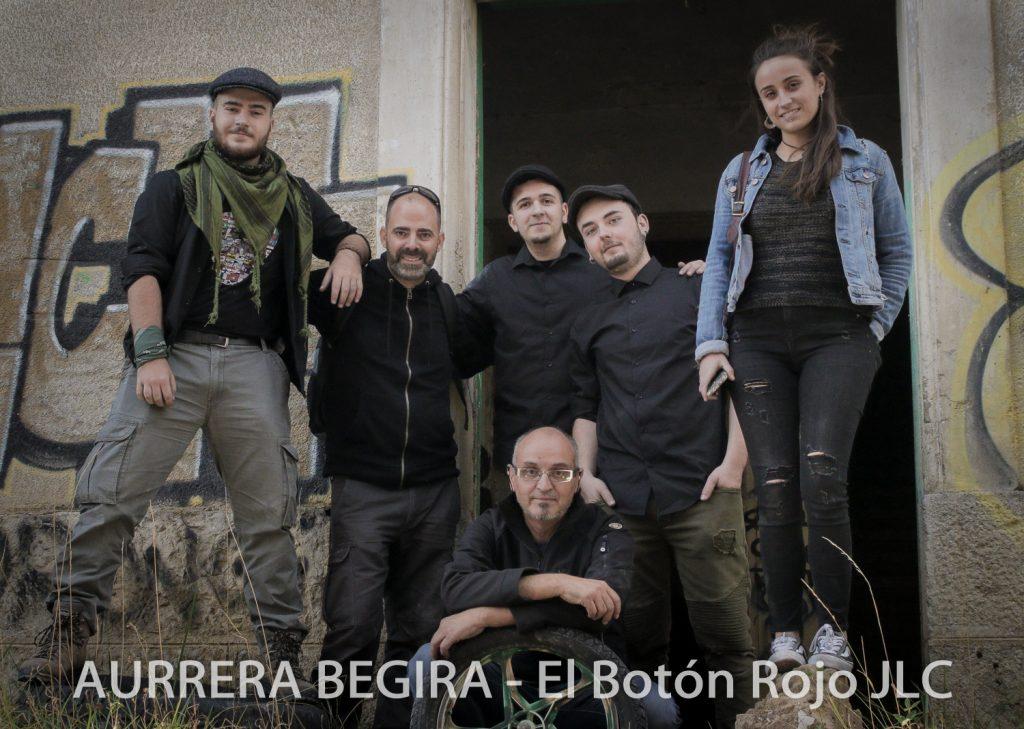 Fotos del día de grabación del primer videoclip de AURRERA BEGIRA. Con José Luis Cordón Cuesta y Mikel Mileto de El Botón Rojo JLC.